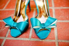 Teal Jessica Simpson shoes - I think I have decided I will be wearing blue-teal shoes under my wedding dress :p