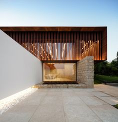 The stunning addition to the Igreja Velha Palace by Visioarq Arquitectos. Such gorgeous use of materials and form! Imagine the scale of this reduced to a residential scale! Image by by adesignersmind Architecture Durable, Architecture Résidentielle, Minimalist Architecture, Amazing Architecture, Contemporary Architecture, Scandinavian Architecture, Contemporary Building, Facade Design, Exterior Design