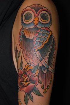 Owl tattoo Pinned by www.myowlbarn.com