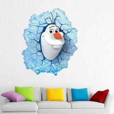 3D Creative Olaf Wall Sticker Art Vinyl Decal