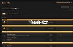 Free SMF Themes - Black Gold SMF Template #smf #gold #smfthemes