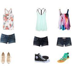 """""""Tanks and Shorts"""" by star-123-dolphin on Polyvore"""