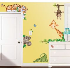 The idea of painting decals styles onto your babies room.  Maybe a Peter Pan theme :)