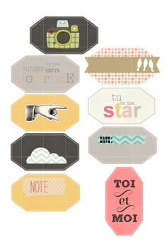 Free Labels {available in both Silhouette and PDF format} from coeur de beurre