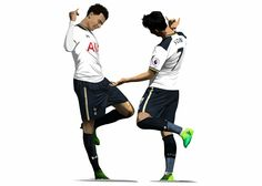 Dele and Son. This image came from minimalistfooty on twitter. Well worth a follow