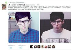 Cause of death: Phil in glasses doing a sassy face x_x