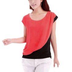 Hot Women's Plus Size Blouses Casual Chiffon Blouse Short Sleeve Shirt Summer Blouse Tops Blusas M L XL