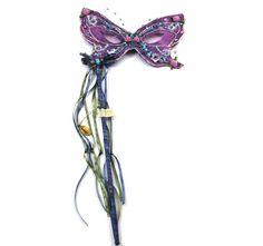 Butterfly Mask On Stick Lavender