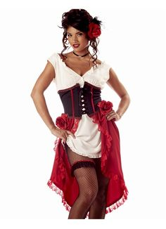 Cantina Gal Showgirl Dancer Adult Halloween Costume Outfit