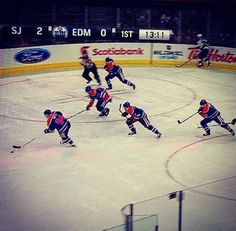 """Being someone who doesn't watch a ton of hockey, I first got only a glimpse of this glorious moment from the Edmonton Oilers in a photo on Twitter. 