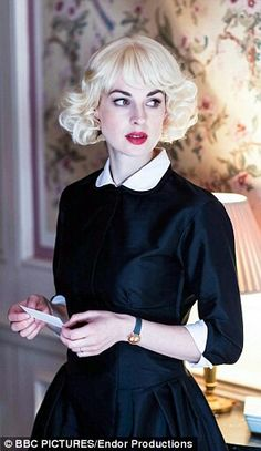 Jessica Raine in the BBC series Partners in Crime. The hair, the makeup, the dress, everything!