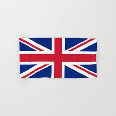 Uk Flag - Union Jack Authentic Color And Scale Hand & Bath Towel by Is Modern Home Decor - Hand Towel Flag Drawing, Buy Flags, London United Kingdom, Glasgow Scotland, Union Jack, Great Britain, Bath Towels, White Cotton