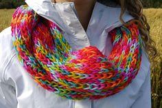 Foulard infini multicolore par GTricots sur Etsy