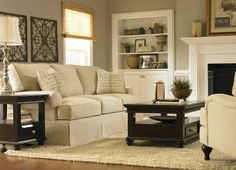 April: I love the paint, built-ins, and sofa. FYI, I have a sofa that looks just like this in the basement.   Erin, Living Rooms | Havertys Furniture