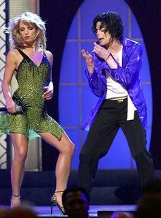 Michael Jackson & Britney Spears performing The Way You Make Me Feel at the 30th Anniversary Special that aired in September 2001.  This special is my 1st memory of being exposed to his music & greatness, safe to say, i've been hooked ever since lol.