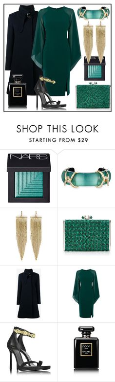 """New Year Party"" by glamheartcafe ❤ liked on Polyvore featuring NARS Cosmetics, Alexis Bittar, Kenneth Jay Lane, Judith Leiber, Chloé, Coast, Versace and Chanel"