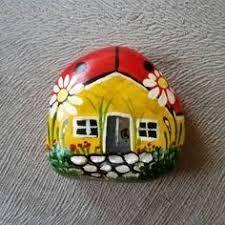 Resultado de imagem para pintura pedras casinhas