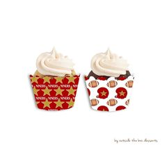 San Francisco 49ers Inspired Cupcake Wrappers