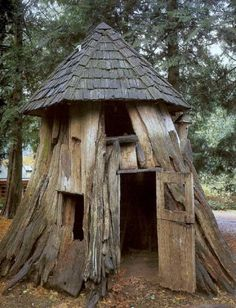 Another pinner said, Chicken coop idea? I think that would be a sweet fort in the woods! (For Humans)