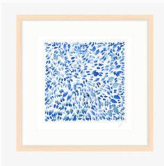 "Image of ""Indigo Petals VI"" Watercolor Giclee Print Giclee Print, Original Artwork, New Homes, Watercolor, The Originals, Frame, Prints, Artist, Vintage"