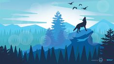 Nature Landscape illustration.  Graphic by BAD WOLF | anderor.sk #badwolf #anderor #illustrator #adobe #art #artwork #landscape Bad Wolf, Landscape Illustration, Moose Art, Web Design, Artwork, Nature, Illustrator, Adobe, Animals