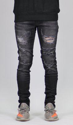 Black Gao Zipper Jean