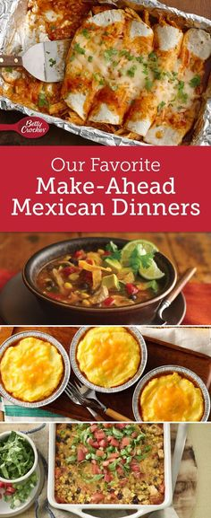 Make weeknights less frazzled and more fiesta-like with flavorful slow-cooker soups, freezer-friendly casseroles and make-ahead salads.