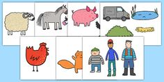 Story Cut Outs to Support Teaching on What the Ladybird Heard - what the ladybird heard, cut-outs, cutouts, display cutouts, images, pictures, display pictures, display images - twinkl freebie