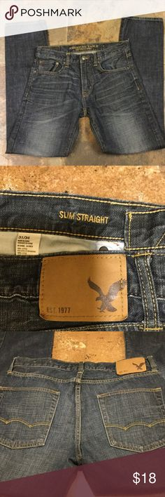 Men's American Eagle jeans slim straight Slim straight 31-34 American Eagle Outfitters Jeans Straight Leg