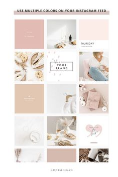 feed Five Easy Steps To Finding The Right Stock Photos For Your Brand — Haute Stock Instagram Design, Flux Instagram, Social Media Instagram, Instagram Grid, Instagram Blog, Ig Feed Ideas, Instagram Feed Ideas Posts, Instagram Feed Layout, Feeds Instagram