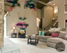 Wall murals - woman portrait abstract watercolor fashion background wall mural pixers we live to change Mural Art, Wall Murals, Ceiling Murals, Room Decor, Wall Decor, Interior Decorating, Interior Design, Interior Ideas, Interior Exterior