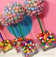 PLEASE NOTE* ALL ITEMS SHOULD ONLY BE USED AS DECORATIVE PIECES    DETAILS    *Approximately 17 tall and 6  in Diameter  * Fantastic Centerpiece, Cocktail or Buffet Table Decor, Super cute on your candy buffet, candy station, dessert bar or sweets table  *Also a super fun gift for any candy lover!  *Base color same or similar to- according to stock  *Production time 3-4 days- Delivery 7 to 12 days from order date. Rush shipments are available for an additional rush fee and expedited shipping…