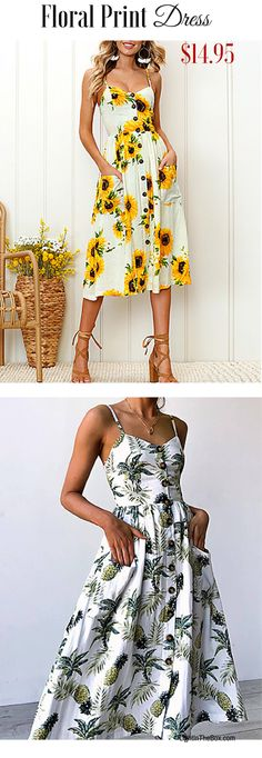 The more flowers the better! Agree?  Find this mind-blowing floral print backless knee length dress in several prints/ colours at just $14.95.  Click to shop!