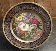 assiette empire de la manufacture feuillet à décor de bouquet de fleurs N 1, Alcuvilla jerome, Proantic