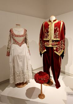 Costumes of the Opera Cosi Fan Tutte are displayed at the Teatro Alla Scala Costumes Opening Exhibition held at Palazzo Morando on June 24, ...