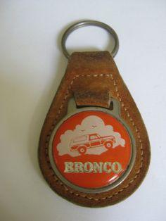 Vintage Ford BRONCO Keychain by VintageByThePound on Etsy, $12.00