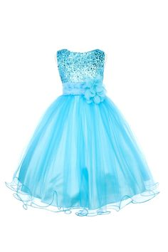 Gorgeous sequin bodice mesh skirt flower girl special occasion dress (sz.2-14) ~ #Easter, graduation, wedding, pageant ~ Color Me Happy Boutique