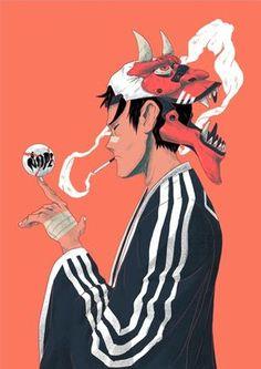 Demon Player 01, an art print by Jor Ros - INPRNT