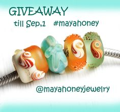 Maya-Honey Lampwork: Giveaway European charm beads by MayaHoney