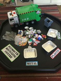 Pin Learning through play - Intentional teaching environment Eyfs Activities, Nursery Activities, Earth Day Activities, Preschool Activities, Recycling Activities For Kids, Day Care Activities, Recycling Kids, Recycling Process, Recycling Center