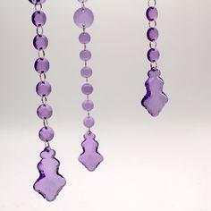 50cm Purple Leaf Pendant Garland  --  £2.35  --  $3.73 a piece