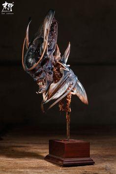 Sculpture Art, Sculptures, Sculpture Techniques, Monster Design, Dark Fantasy Art, Some Ideas, Creature Design, Sculpting, Concept Art