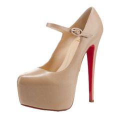 red bottom shoes lady daf platform pumps beige, the best seller! $189.00