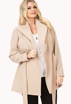 City-Chic Wool Trench Coat | FOREVER21 PLUS - 2000129093