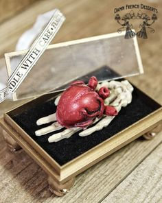 Heart in Hand Relic Handle with Care by damnfrenchdesserts on Etsy, $25.50