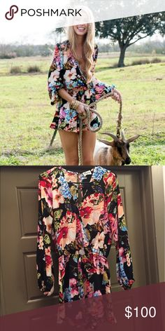 Show Me Your Mumu Romper Rocky Romper in Country Garden. Size medium. Worn once. Great condition! Show Me Your MuMu Other