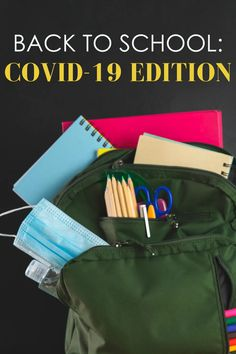Back to School supplies during the COVID-19 pandemic.