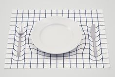 Graphic Warp Table Mat