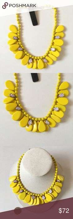 Jcrew yellow pastel statement necklace ⚠️No trade. No model.  💰Price is firm.  🎉3 for 15% off bundle discount 🎉see more pics on IG @shopjanes_closet.  😍Details: Brand new with tag. No price tag. Material unknown. Details see pictures. J. Crew Jewelry Necklaces