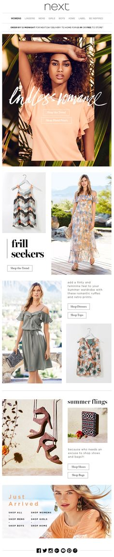 next - Just arrived + Summer styles to fall in love with... #newsletter #design…